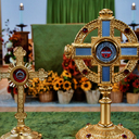 Relics of St. Therese w/ Relics of parents Sts. Louis & Zelie